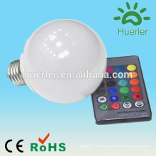 Ahorro de energía e27 e26 b22 e27 rgb bombilla led con ir bulbo led rgb led bulbo rgb