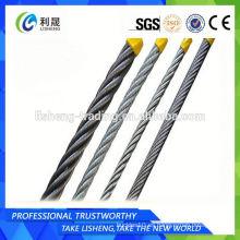 19 * 7 Cuerda de alambre de acero no galvanizado 14mm