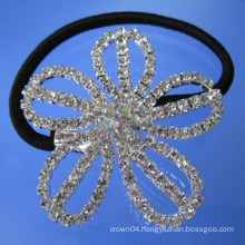 wholesale crystal hair accessories flower shape elastic hair band