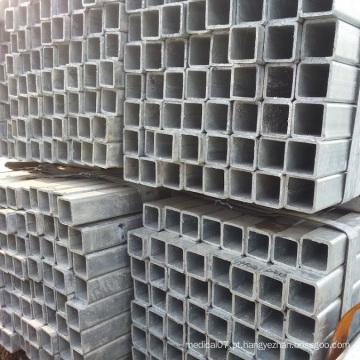 Tubo de aço galvanizado soldado quadrado de carbono