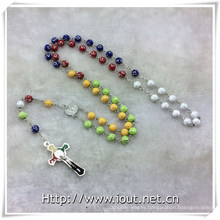 Colorful Resin Beads Rosaries, Religious Beads Rosary (IO-cr390)