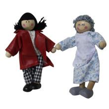 Glückliche Familie Serie Kinder Holz Spielzeug Puppe