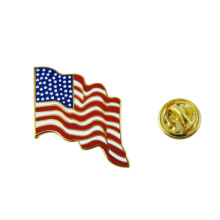 Factory Supply Cheap USA Country Metal Badge American Flag Lapel Pin