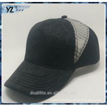 5panel customied logo with mesh baseball cap good quality