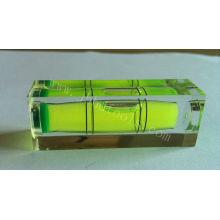 High precision transparent acrylic spuqre bubble level vial ,HD-YT1852