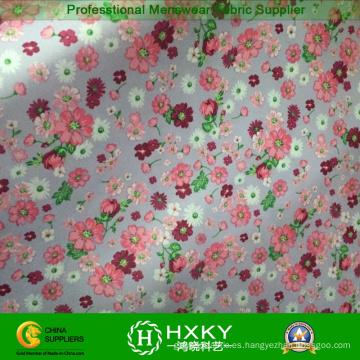 Tela de impresión de flores para mujeres vestido largo o camisas