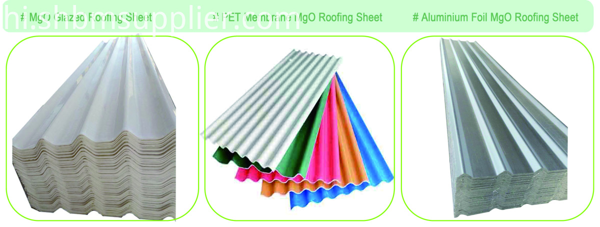 Iron crown PET Membrane UV-Blocking MgO Roof Sheets