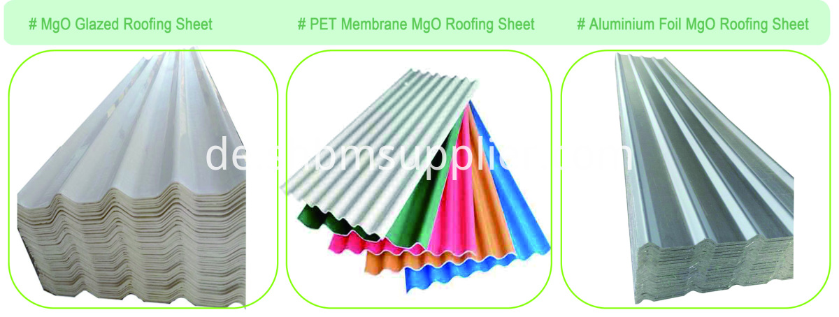Heat Insulation Fireproof PET Membrane MgO Roof Sheet