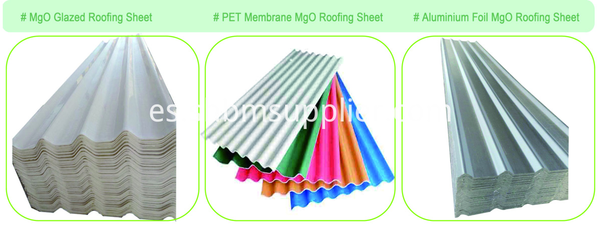 No-asbestos Anti-UV Coad-Resistant PET MgO Roofing Sheet