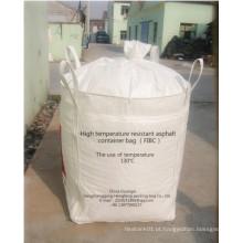1000 Kg saco jumbo para betume com resistência de alta temperatura do forro