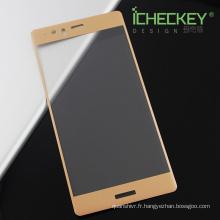 Autocollant 3D avec impression de la peau et du verre trempé pour la protection d'écran de Huawei P9 plus