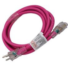 Pink NEMA 5-15 Outdoor 12/3 Extension Cord