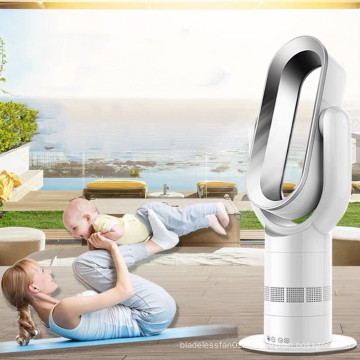 2019 Portable ABS 10 inch mini electric bladeless heater fans  with infrared remote control