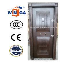 Estrutura de Turquia Popular Venda Porta de armadura de madeira de aço MDF (W-T17)