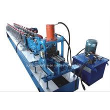 Máquina formadora de rolo de tira para porta de aço durável de alta velocidade totalmente automática
