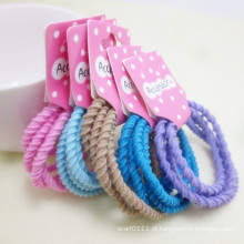 5 peças de cartão embalado cores misturadas parafuso elásticos hairbands (je1504)