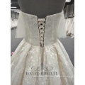 New Lace Pattern Wedding Dress Skirt Under Strapless Bling Bridal Dress 2018 Collections