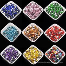 High Quality 4mm Jelly Ab Resin Rhinestones Flat Back For Garment Decoration