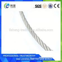 Cuerda de alambre de acero galvanizado recubierto 7x7