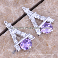 fashion eiffel tower designs new model cubic zirconia earrings