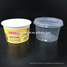 Contenedor de comida de plástico desechable 550ml Microondas Caja fuerte