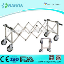 DW-TR002 stainless steel funeral scissor trolley for coffin