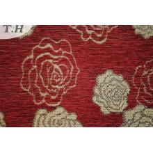 Jacquard Item Red Chenille Jacquard Sofa Fabric