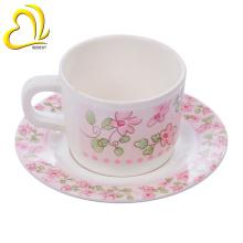 barato design moderno melamina xícara de chá pires