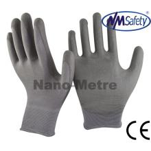 Nmsafety Профессиональные нейлоновые покрытые серые PU перчатки