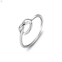Valentine Jewelry Double Silver Love Knot Rings, Couple S925 Sterling Silver Love Knot Ring