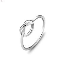 Anéis de nó de amor de prata duplo jóias dos namorados, Casal S925 anel de nó de amor de prata esterlina