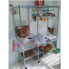 Lavandaria Corner Rack para cabide de roupas e Armazenamento-Cj6020120b4c