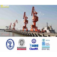 Utilisation de portail Mobile Crane Single Jib Port matériel Port 25 t pour le chargement et