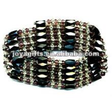 """Violeta magnética de vidro envolto pulseiras & colar 36 """""""