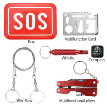 outdoor&indoor aid camping tools survival kit sos box