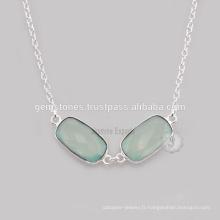 Bijoux en pierre Aqua Calcédoine naturelle pour vente en gros
