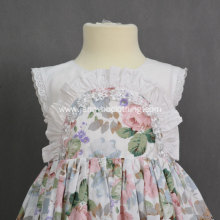 baby floral summer dress white lace