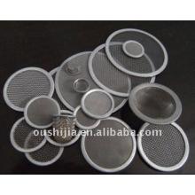 Différents types de disques filtrants en acier inoxydable fritté / disque filtrant en métal