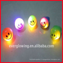 Anneau de lumière LED avec visage souriant
