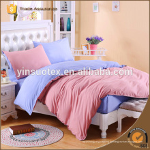 100% Baumwolle Reaktivdruck Bettwäsche Set für Heimtextilien Ebene gefärbt reaktiven Druck Bettwäsche gesetzt Heimtextilien Bettwäsche gesetzt
