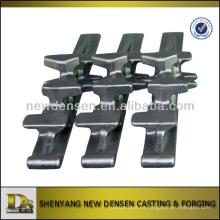 Dientes de hierro de hierro de hierro fundido precocido núcleo de hierro para la pista de goma