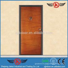 JK-AI9863 Porte d'entrée en fer à prix forgé / Design de porte simple