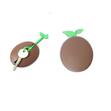 LFGB Cute Round Shape Silicon Coin Holder Case and Keychain