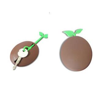 Симпатичный силиконовый чехол-держатель для монет круглой формы LFGB и брелок
