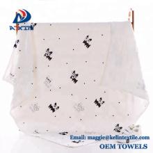 Manta Swaddle de algodón alta calidad blanca suave 100% orgánica del bebé