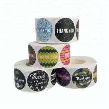 Seal Packaging Label Sticker Roll Assorted Round Paper Vinyl Label Sticker Printing,Custom Adhesive Printing Label Sticker