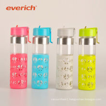 Everich office cycling glass water bottle