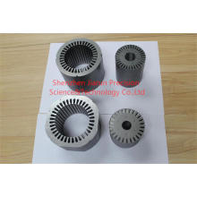 Rotor del motor y piezas de estampación del estator