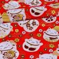 Japanese Style Bronzing 100% Cotton Woven Kimono Fabric