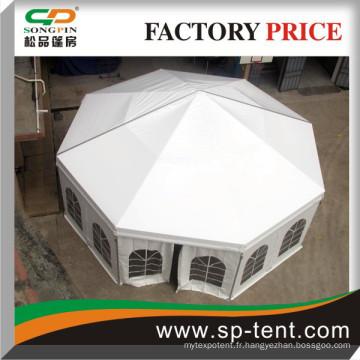 Octagonal Aluminium Hall Tent Maison de diamètre 10m à vendre